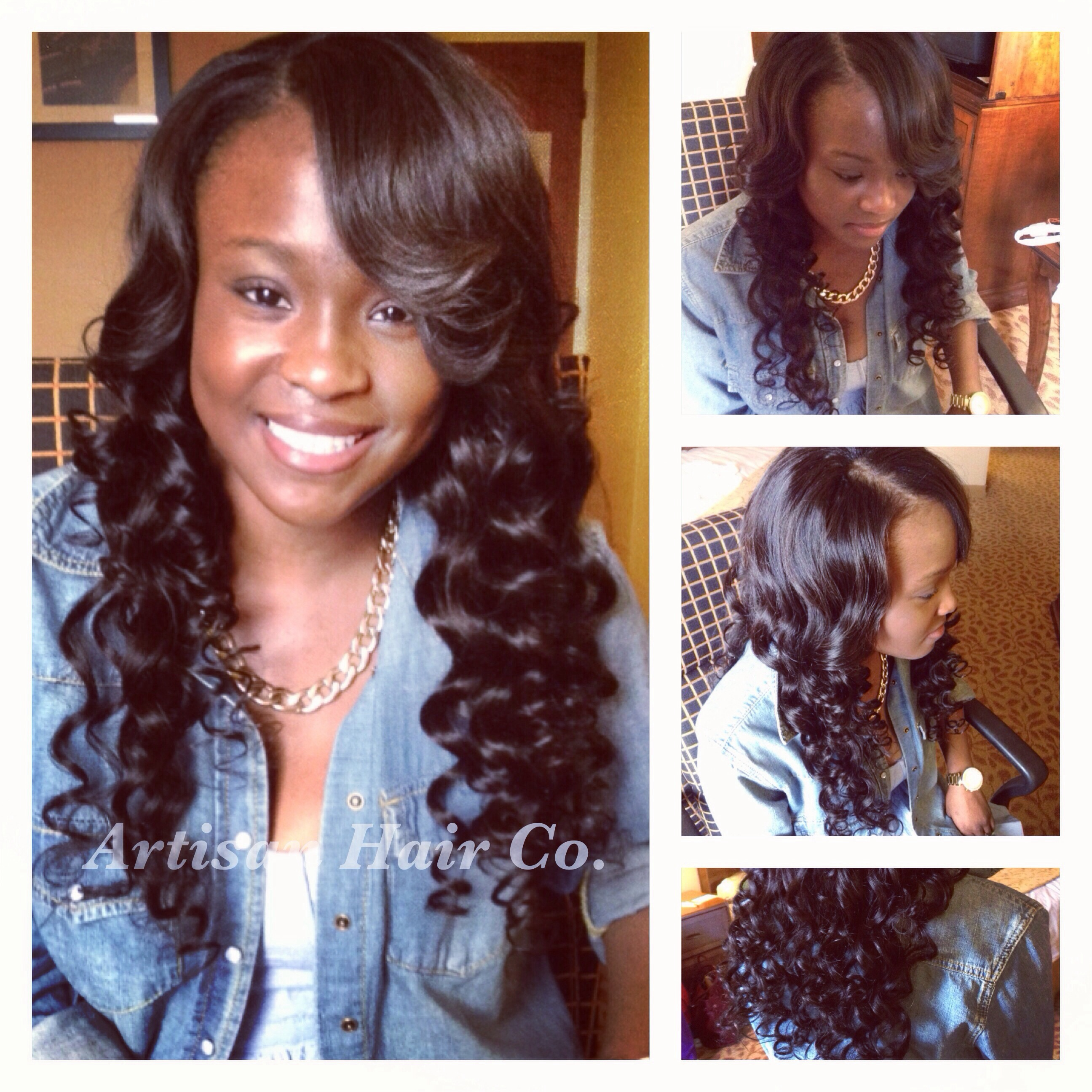Crochet Braids Memphis : Sew in Weave with Leave Out