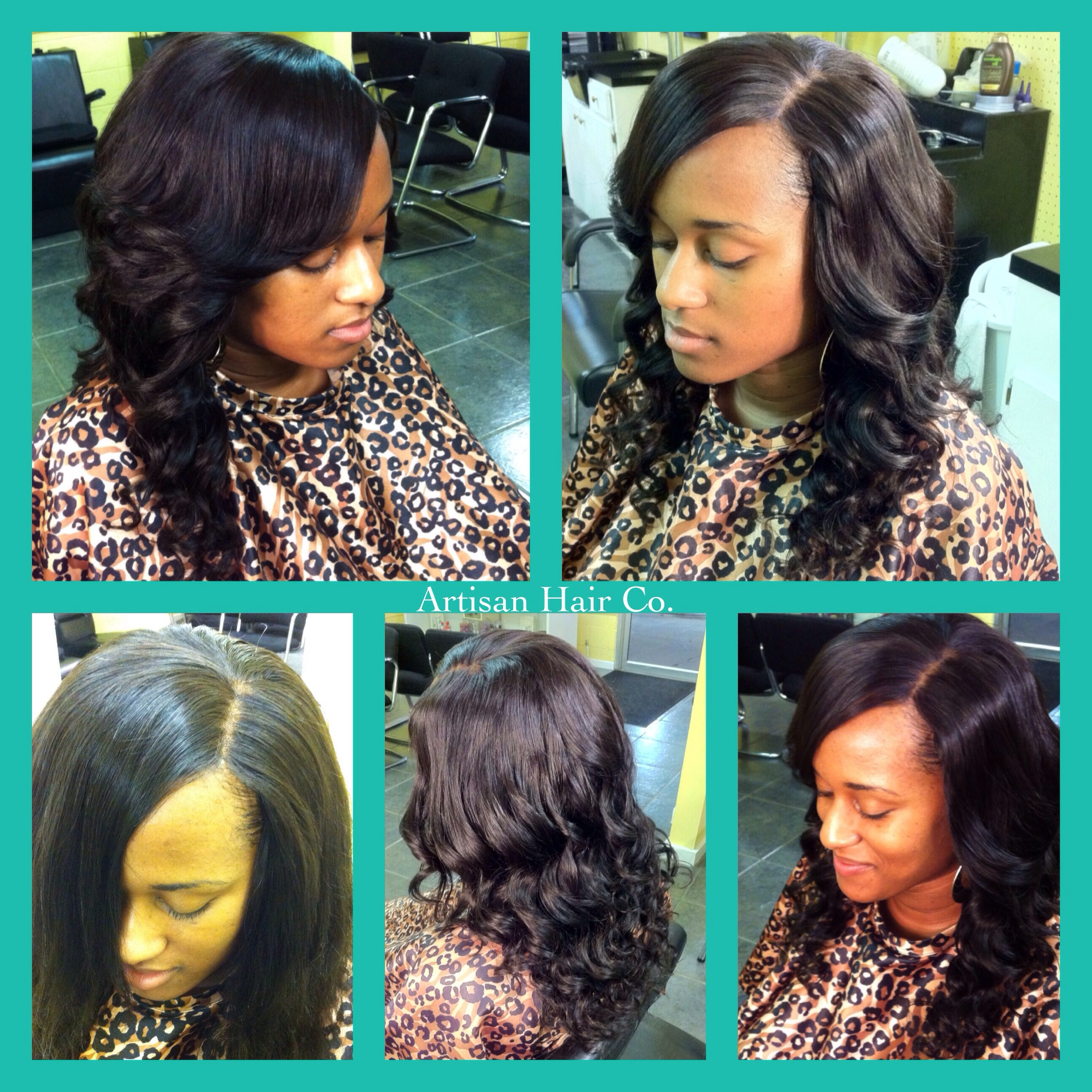 Full Sew In No Leave Out With Lace Closure Artisan Hair Company Llc