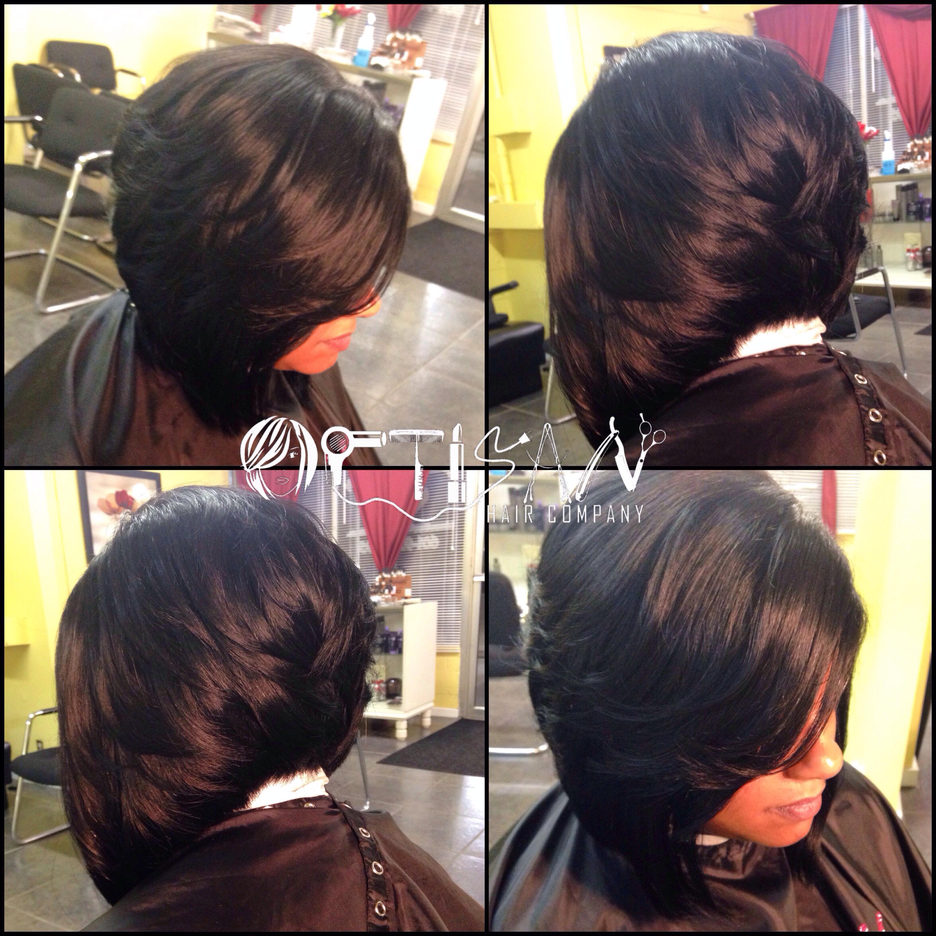 Lace closure Sew-in w/ bob cut   Artisan Hair Company, LLC